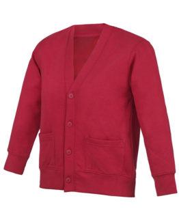 Cardigan rouge pour vêtements scolaires
