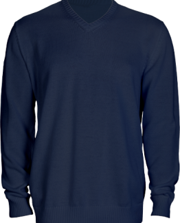Pull maille bleu marine code vestimentaire