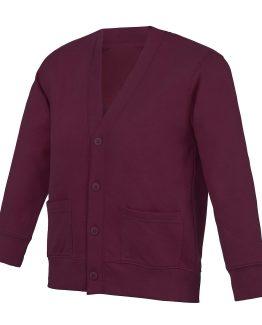 Cardigan burgundy pour vêtements scolaires
