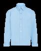 Chemise bleu avec poche pour uniforme scolaire