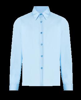 Chemise bleu pour uniforme scolaire