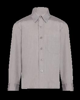Chemise grise avec poche pour uniforme scolaire