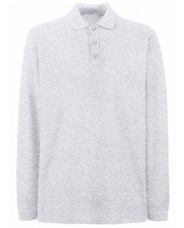 Polo manches longues gris