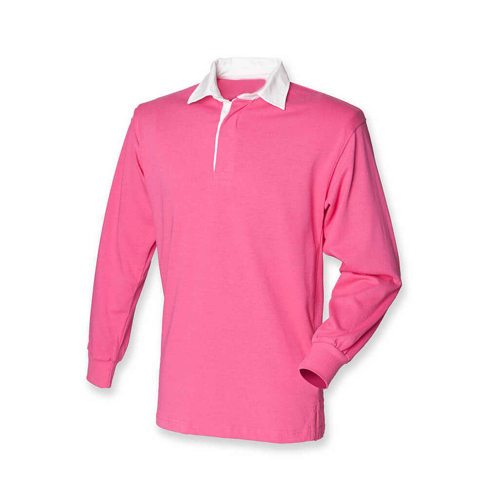 Front Row Long Sleeve Classic Shirt Rugby clair rose/ Blanc L EITeJX
