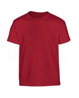 Tee shirt personnalisé pour uniforme scolaire rouge grenat